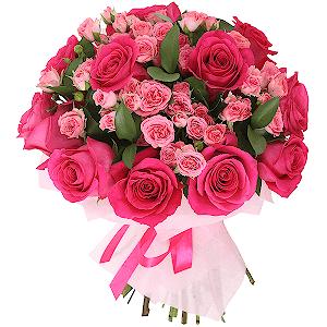 цветы ко дню матери Малиновый щербет