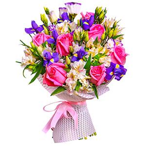 Прекрасный букет +30% цветов с доставкой в Новосибирске
