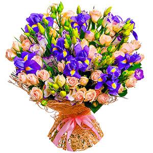 Дизайнерский букет +30% цветов с доставкой в Новосибирске