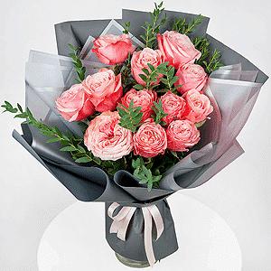 Бизнес-букет +30% цветов с доставкой в Новосибирске