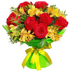 Счастливый мишка +30% цветов с доставкой в Новосибирске