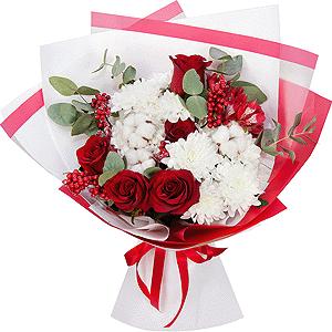 С днем защитника отечества! +30% цветов с доставкой в Новосибирске