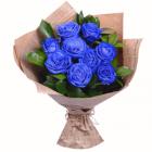 Букет из 9 синих роз