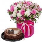 Композиция «Фея цветов» с тортом