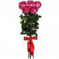 Роза розовая 70см - 7, Лента