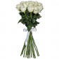 Роза белая 70см - 15, Лента